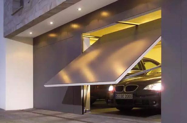 гаражные ворота секционные для северного климата
